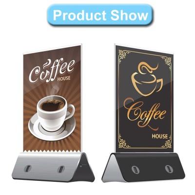 Advertising menu portable power bank for restaurant, hotel, coffee shop, bar wiith 10000mah