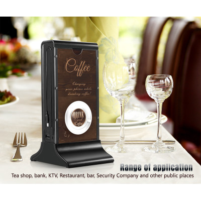 Advertising stand menu holder power bank 20800mAh for mobile phone and ipad