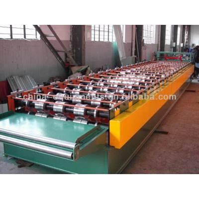 de aluminio corrugado hoja roll que forma la máquina