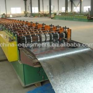 Ondulé en tôle d'acier formant la machine