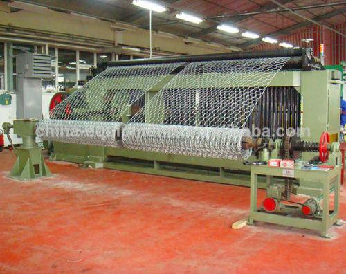 gaviones de malla hexagonal de la máquina