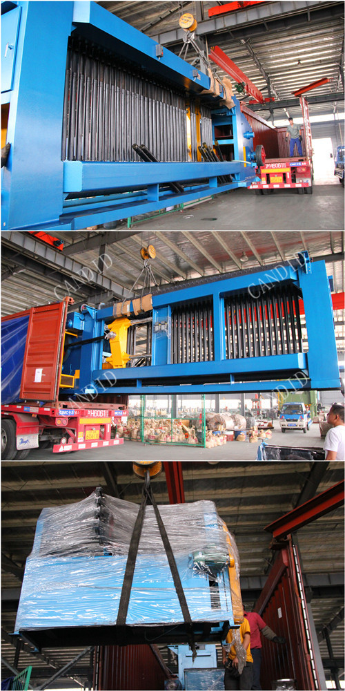 Gabion machine for PVC coated wire