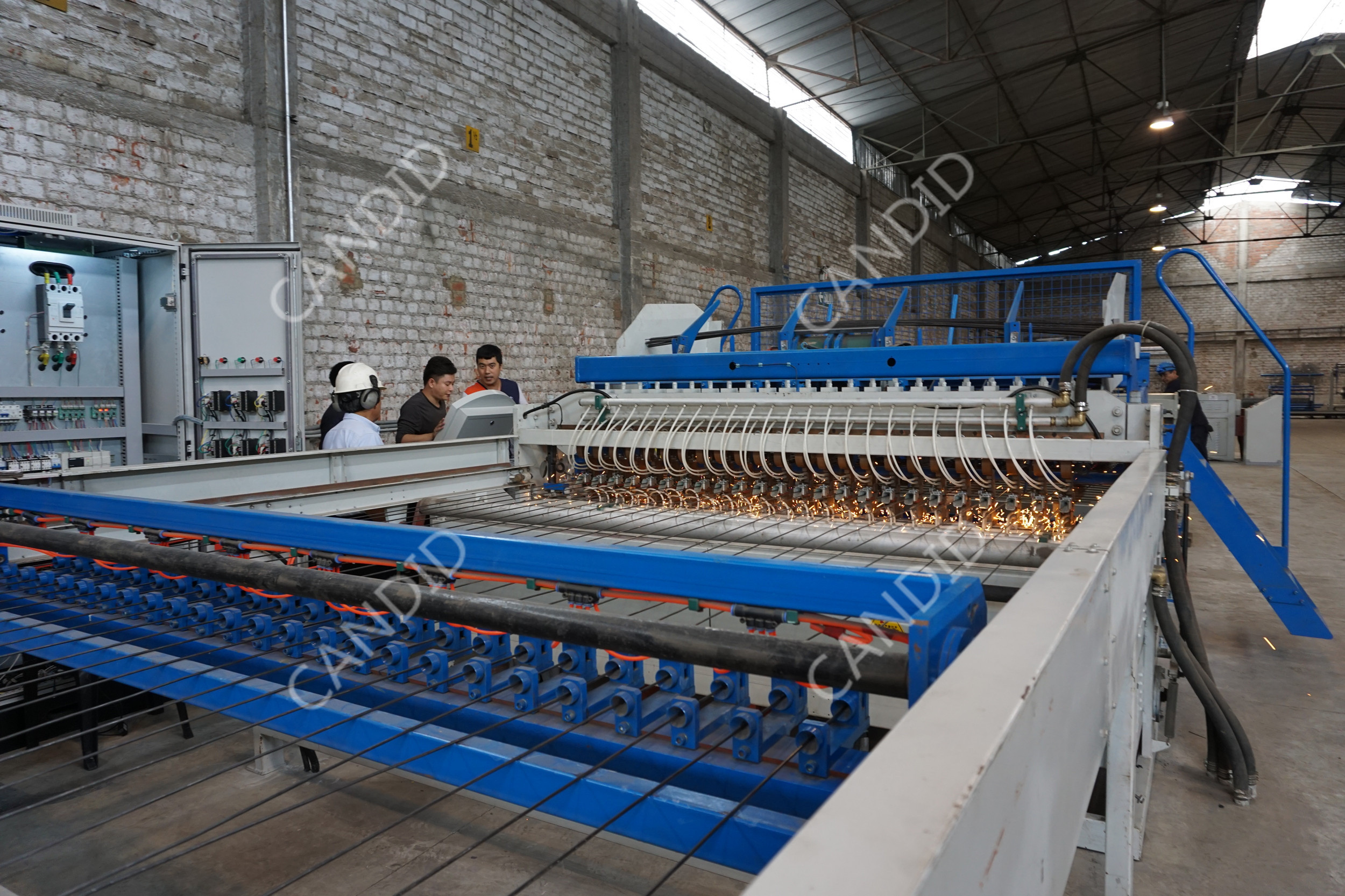 PLC control reinforced rebar mesh welding machine manufacturer