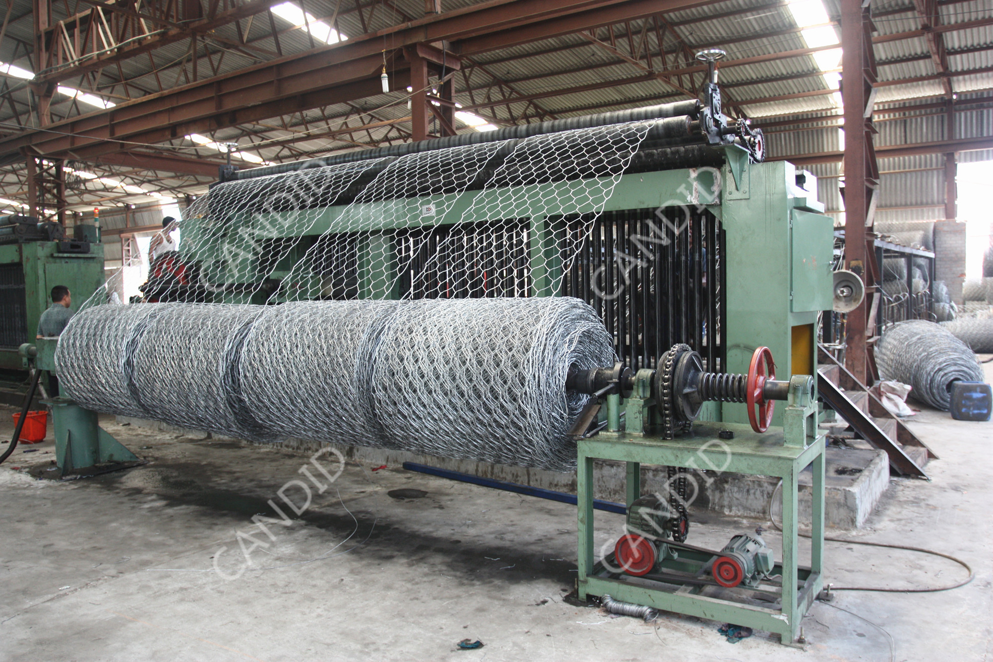 Hexagonal Wire Netting Weaving Machine
