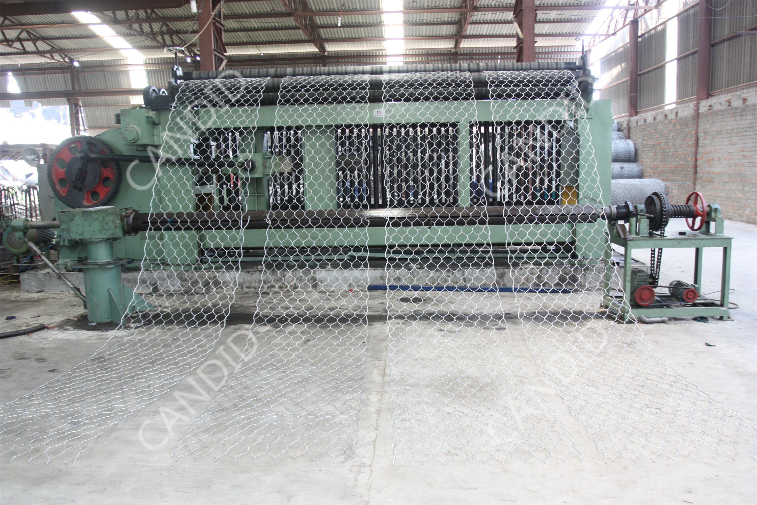 hydraulic gabion machine