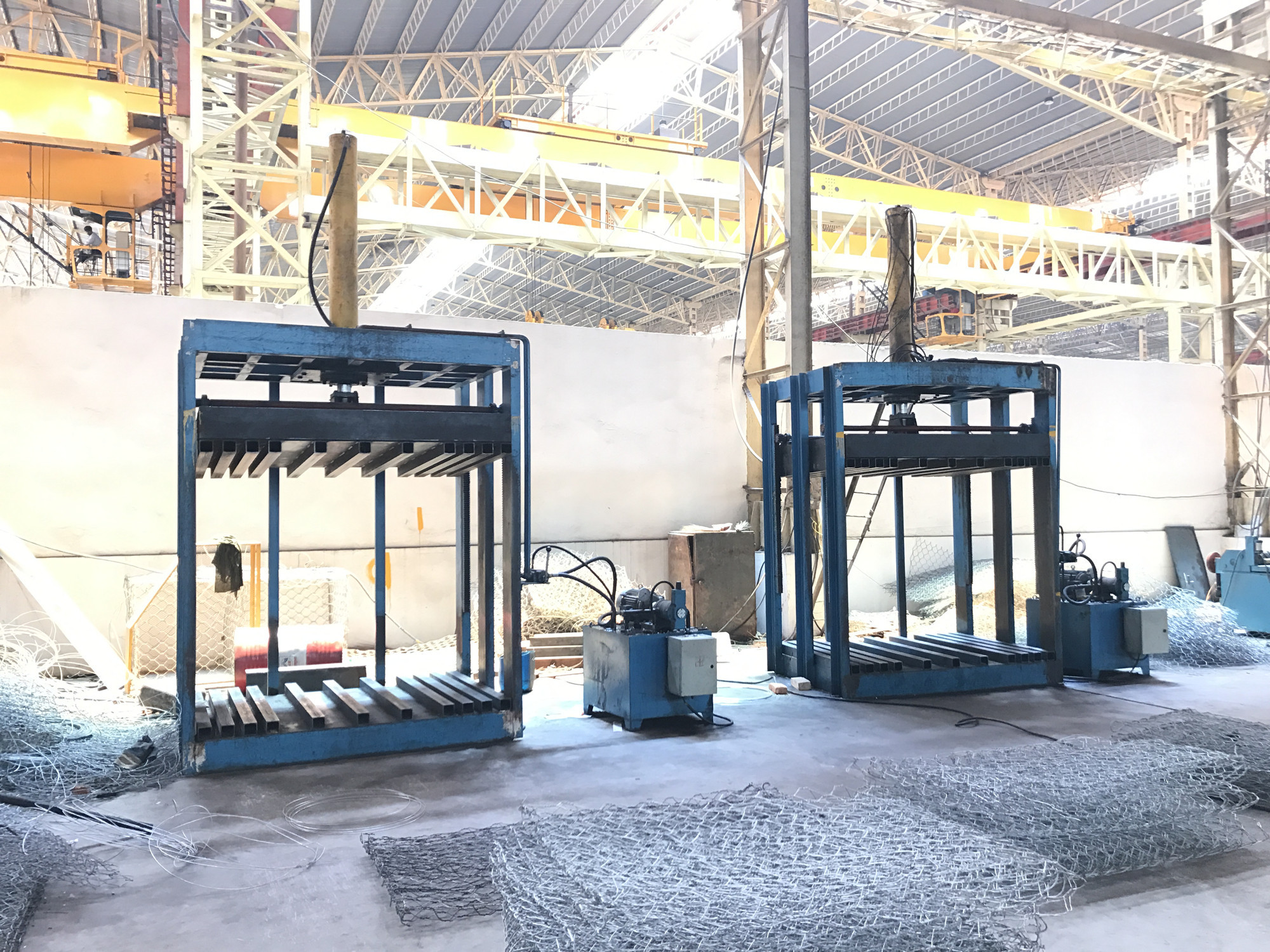 gabion cage packing machine
