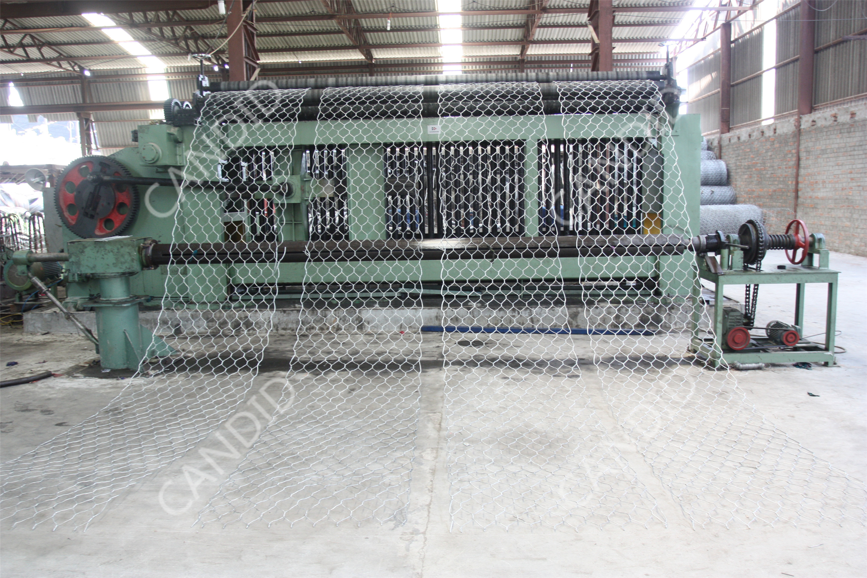 gabion machine mesh size