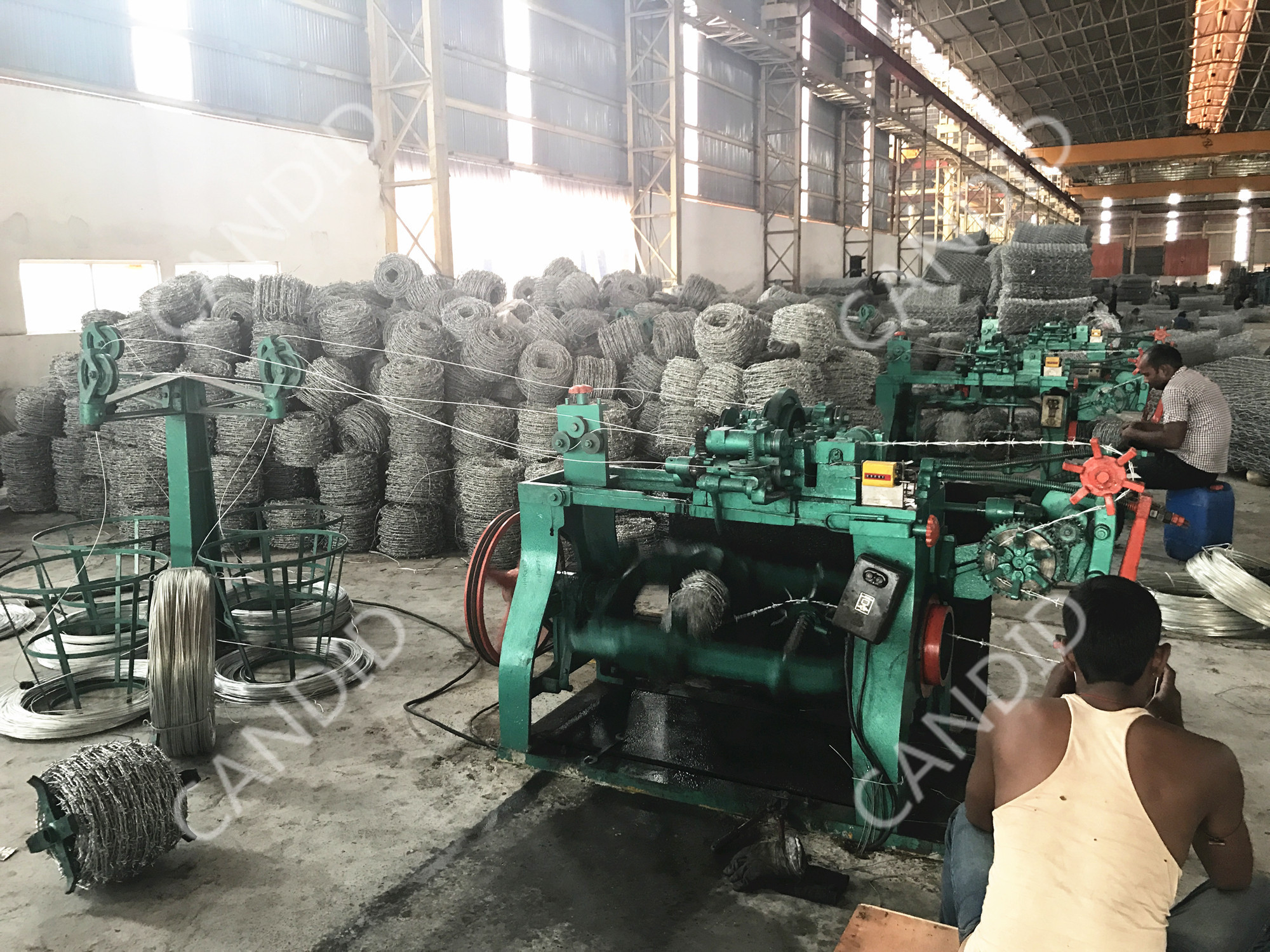 razor barbed wire production line