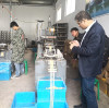 Welcome our Iran customer visit our eraser making machine factory