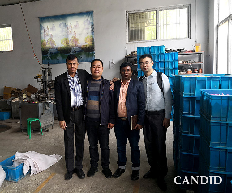 customer visit CANDID eraser making factory