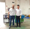 Welcome spanish customer visit our crayon making machine