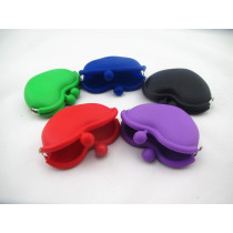 2014 summer hot colorful Silicone Coin Pouch/coin Purse/coin Wallet with heart shape