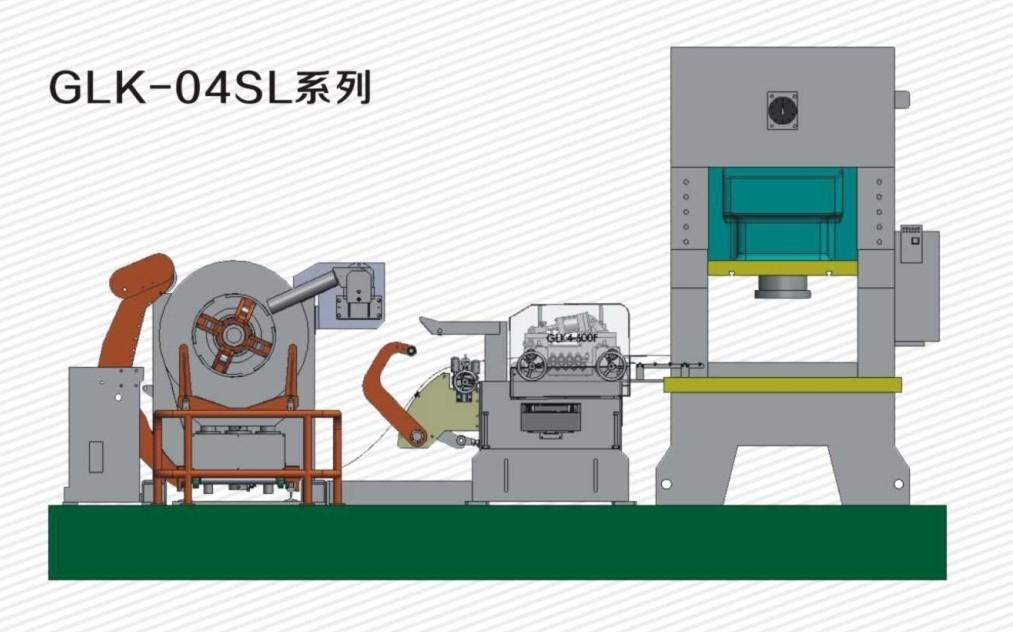 cina nc servo bobina di alimentazione 3 in1 fabbrica glk4 serie