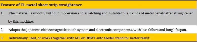 2014 인기와 최신 자동 금속 코일 교정 기계 재고, 모델: STL