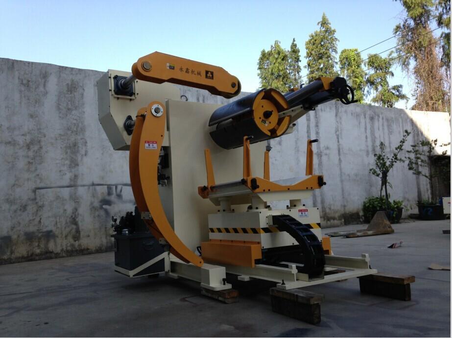 중국 자동 펀칭 라인 철강 decoiler, 모델: mt-f