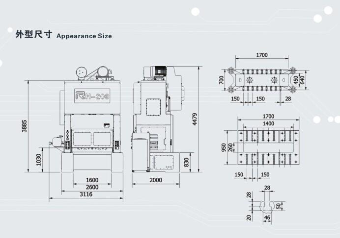 기계 고속& 정확도 금속 스탬핑 기계, 모델: rh-30