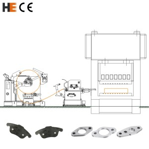Auto parts stamping line