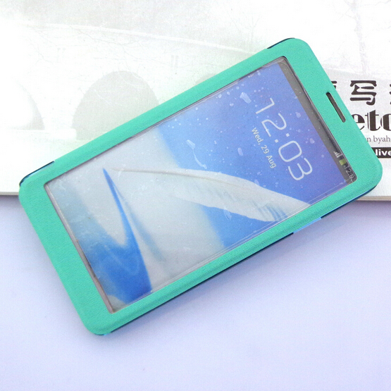 Hot selling Samsung Note 2 PU leather mobile phone case heat press