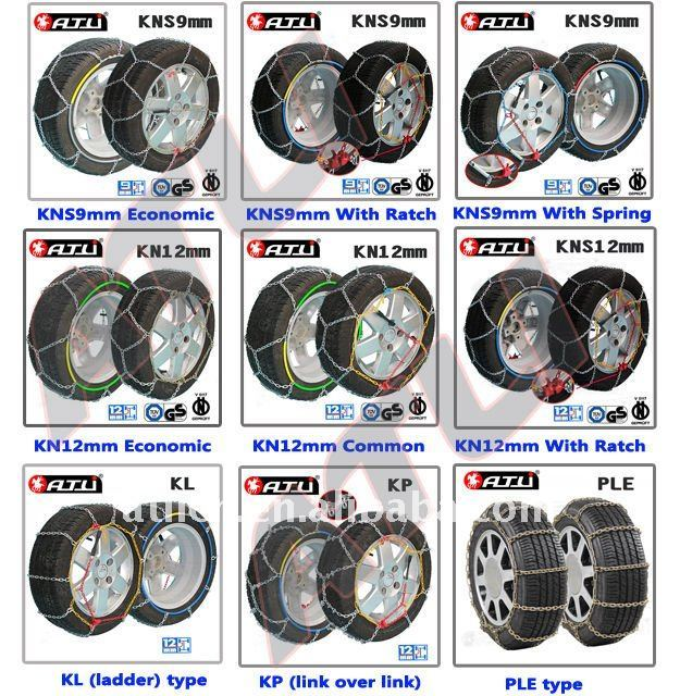 Snow chains for Passenger car, anti-skid chain,tire chain high quality best sale