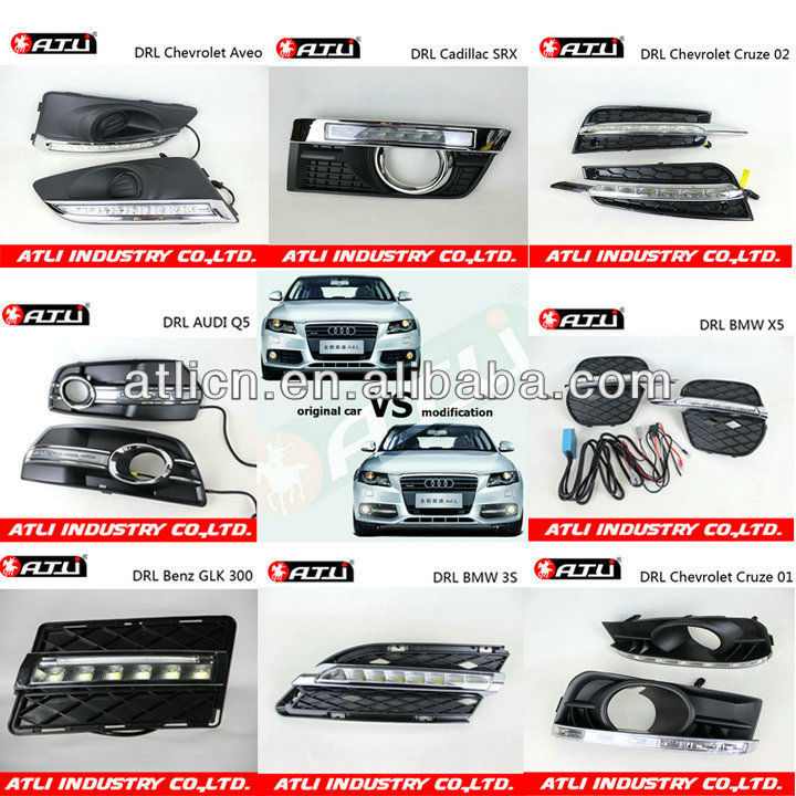 Multifunctional fashion eddy daytime running light drl