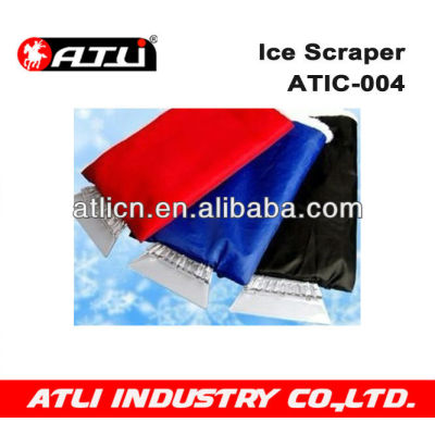 Practical and good quality hand held plastic ice scraper ATIC-004, ice scraper with gloves