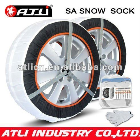 New design, good sale SA auto snow sock, fabric snow sock tire cover wheel cover