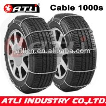 Hot sale and good quality Cable 1000S Type Snow chains for Passenger car, anti-skid chain,tire chain
