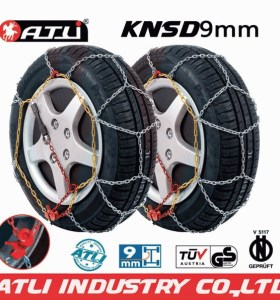 2013 new design kns 9mm snow chains for cars