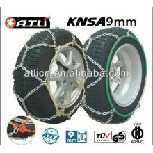 Best selling kns 9mm snow chains/tire chains for passenger car