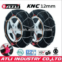 Quick mounting Diamond Type KNC12mm snow chain for passenger car,tire chain.anti-skip chain