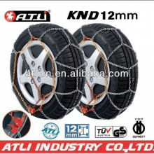 Quick mounting Diamond Type KND12mm snow chain for passenger car,tire chain,anti-skip chain