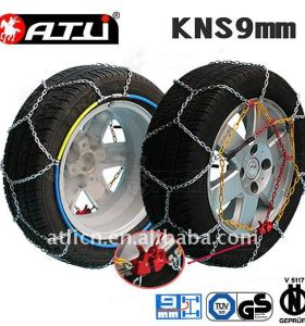Snow chains KNS9mm for Passenger car, tire chain, anti-skid chain,TUV/GS, V5117 certificate