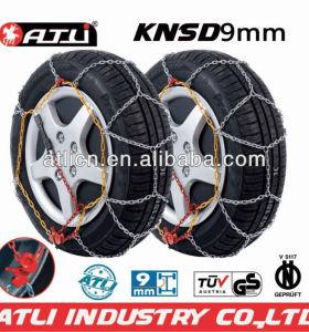 Snow chains KNS9mm for Passenger car, anti-skid chain,tire chain TUV/GS V5117 certificate