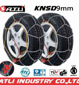 low price high quality best sale KNSD 9mm Snow chains for Passenger car,anti-skid chain,tire chains
