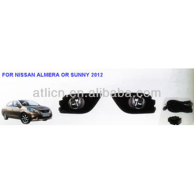 the newest fog lamp\light FOR NISSAN ALMERA OR SUNNY 2012