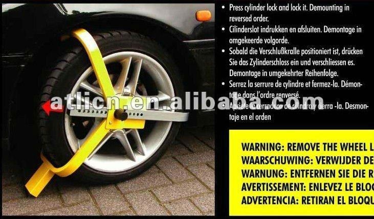 anti-theft wheel car lock tire lock tyre lock Y type