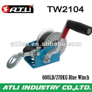 High quality hot-sale single drum winch TW2104,hand winch