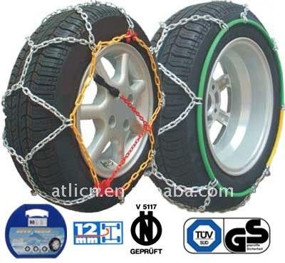 Snow chains KNS9mm for Passenger car, anti-skid chain,tire chain TUV/GS, V5117 certificate