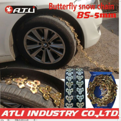 Butterfly design BS-5mm for passenger car SNOW CHAIN