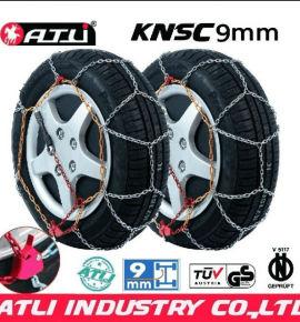 high quality best sale KNSC 9mm Snow chains for Passenger car, anti-skid chain,tire chain