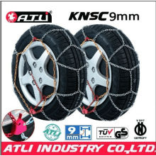 high quality best sale KNSC 9mm Snow chains for Passenger car, anti-skid chain,tire chain