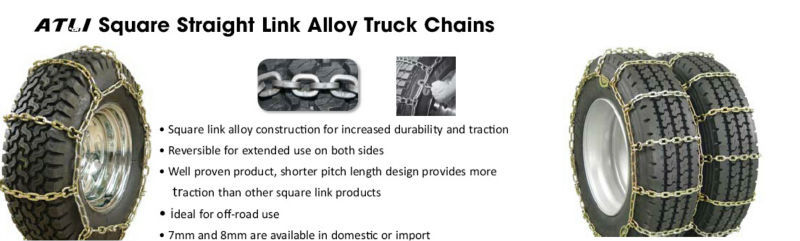 Universal popular double mount truck anti skid chains
