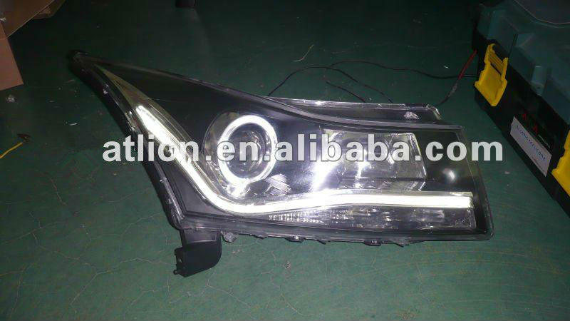 Modified CAR AUTO LED headlight angle eyes for Chevrolet Cruze 2011-2013