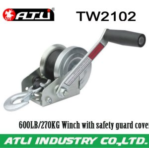 High quality hot-sale 600LB/270KG Winch with safety guard cover TW2102,hand winch