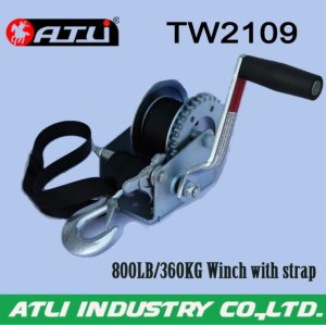High quality hot-sale 800LB/360KG Winch with strap TW2109,hand winch