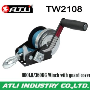 High quality hot-sale 800LB/360KG Winch with guard cover TW2108,hand winch