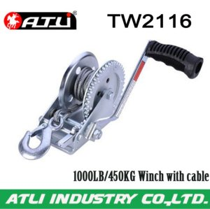 High quality hot-sale 1000LB/450KG Winch with cable TW2116,hand winch