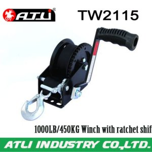 High quality hot-sale 1000LB/450KG Winch with ratchet shift TW2115,hand winch