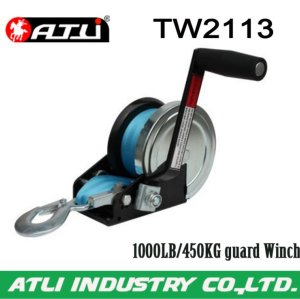 High quality hot-sale 1000LB/450KG guard Winch TW2113,hand winch
