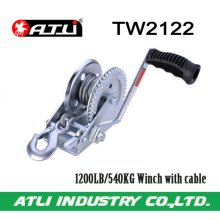 High quality hot-sale 1200LB/540KG Winch with cable TW2122,hand winch